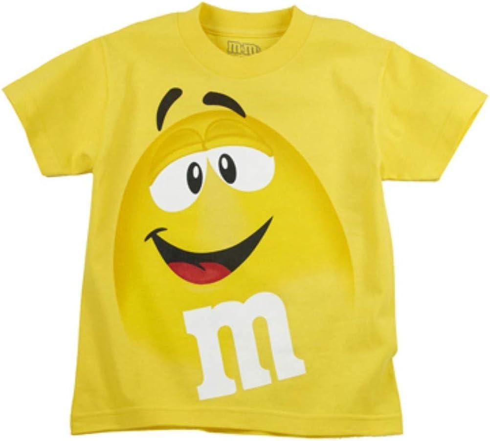 M&M M&Ms Candy - Camiseta de manga corta (talla XXXL), diseño de cara amarilla: Amazon.es: Ropa y accesorios