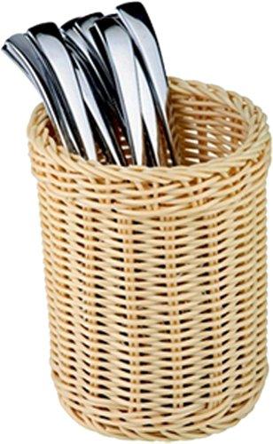 Polyrattan Bread Basket - Paderno World Cuisine Polyrattan Flatware/Breadstick Basket