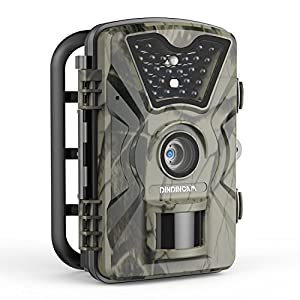 "Trail Game Camera, 1080P HD 12MP 65ft Infrared Night Vision Hunting Mini Camera with 24LEDs, Motion Sensor, 0.5s Trigger Speed, IP66, 2.4"" LCD Screen for Wildlife Surveillance, Home Security?Upgraded?"