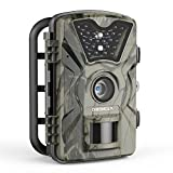 Trail Game Camera, 1080P HD 12MP 65ft Infrared Night Vision Hunting Mini Camera with 24LEDs, Motion Sensor, 0.5s Trigger Speed, IP66, 2.4