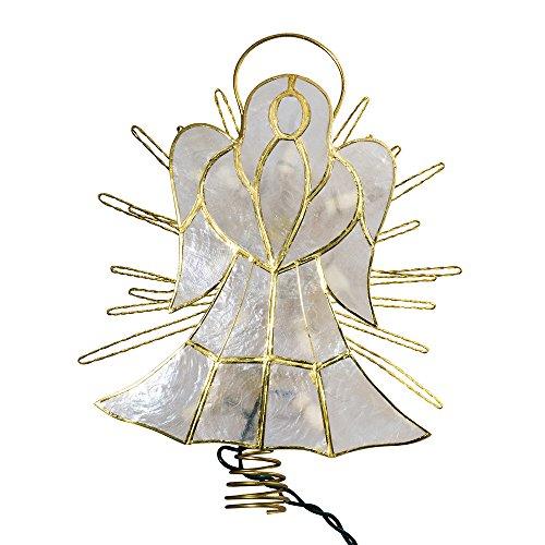 Kurt Adler 10-Inch Capiz Angel with Twisted Wire Treetop by Kurt Adler (Image #2)