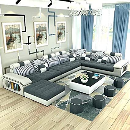 Awesome Best Furniture Living And Dining Hall Nylon U Shape Sofa Set 3 2 2 Corner 4 Pease Puffy Dewan Standard Size Cream Andrewgaddart Wooden Chair Designs For Living Room Andrewgaddartcom