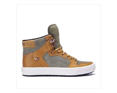 Supra Mens Vaider Cw Bonebrwn Dplchn Gryvlt Blk Skate Shoes