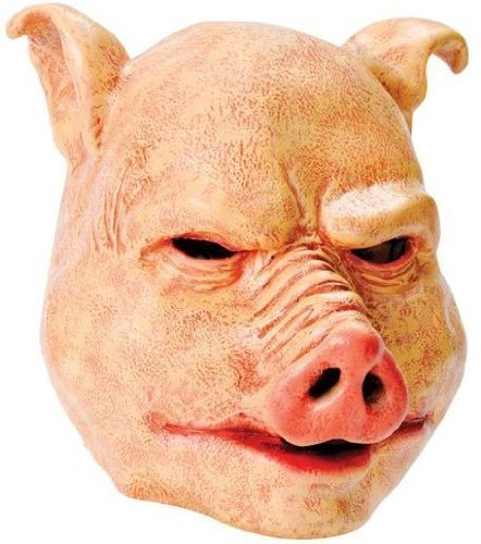 Bristol Novelty Pig Latex Mask, One Size -
