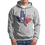 I Love Texas Texan Flag Printed Long Sleeve Hoodie Sweatshirt for Mens Winter Sweatshirt