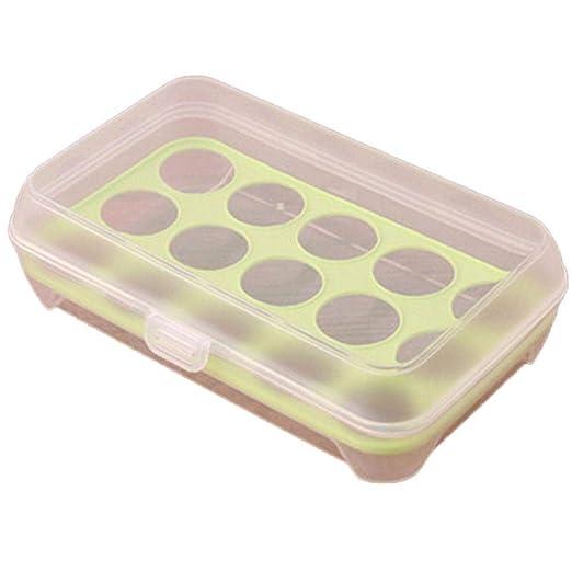 Yagoheke - Caja para Guardar Huevos en la Cocina o el frigorífico ...