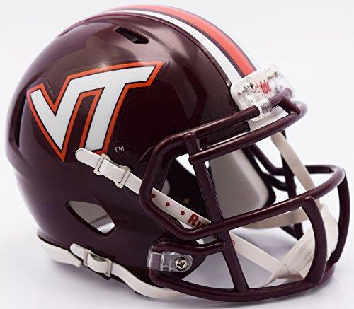 (Riddell NCAA Virginia Tech Hokies Helmet Mini SpeedHelmet Replica Mini Speed Style 2016, Team Colors, One Size)