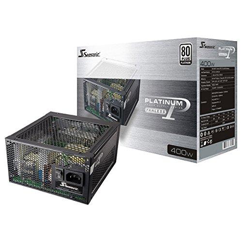 SeaSonic SS-400FL2 Active PFC F3 400W 80 PLUS Platinum Fanless ATX12V / EPS12V Power Supply