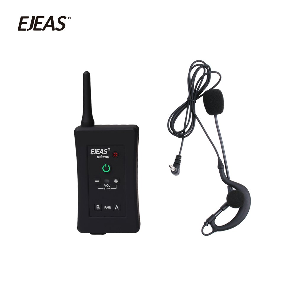 Vnetphone Football Referee Intercom Headset FBIM 1200M Wireless Full Duplex Bluetooth Interphone with FM 800mah 4 sets/lot