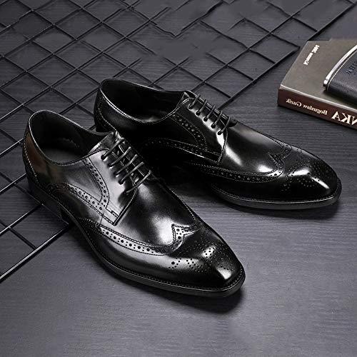 Zapatos Hombre Brogue Desai Cordones De Negro Para Derby dfqnA1w