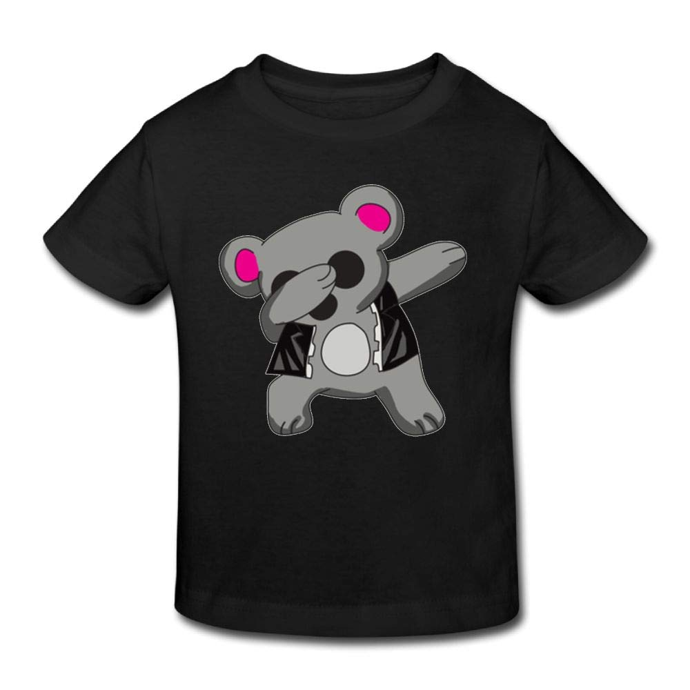 Shanala Dabbing Koala Age 2-6 Childrens T-Shirt for Girls Boys Black