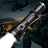Police Tactical Flashlight ORCATORCH T20 980 Lumen Super Bright Military Rechargeable Flashlight Holster Included