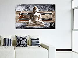 DECLINA Tableau Deco Zen Bouddha ET Japon imprimée - Impression sur Toile  décoration Murale Zen - Déco Maison, Cuisine, Salon, Chambre Adulte -  Marron ...