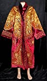 TRADITIONAL BUKHARA OUTWEAR COSTUME ROBE JACKET SILK GOLD EMBROIDERED A11725