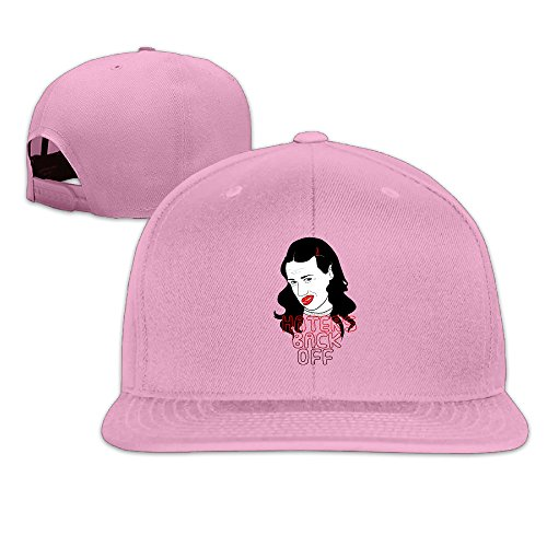 LINNA Custom Unisex-Adult Hater Television Back Off Snapback Baseball Hats Caps Pink (Pink Power Ranger Toddler Costume)