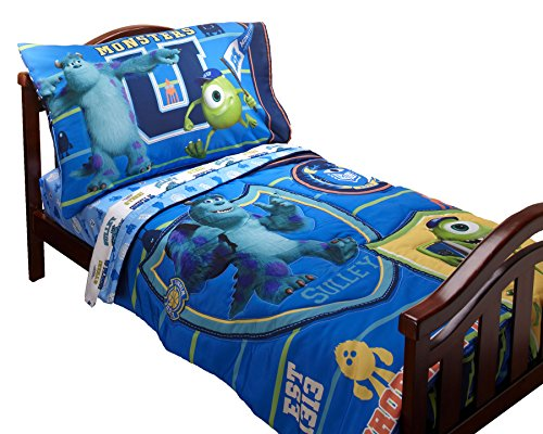 Disney Monsters University 4 Piece Toddler set (Monster University Bed Set)