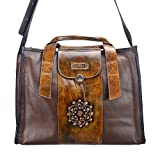 Macaro Victoria - Genuine Colombian Leather - Carry All Bag - Brown