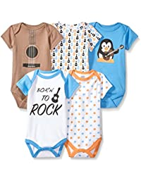 Baby Infant Cotton Bodysuits, 5 Pack