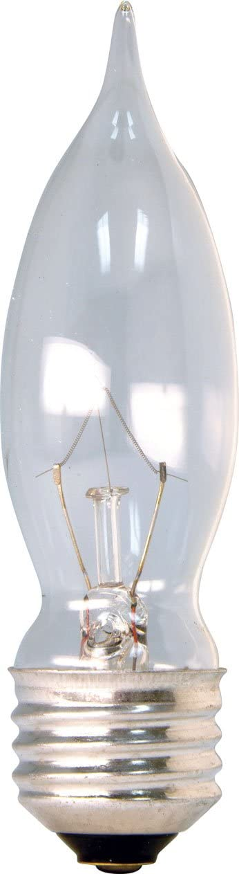GE Lighting Crystal Clear 76230 40-Watt, 330-Lumen Bent Tip Light Bulb with Medium Base, 16-Pack