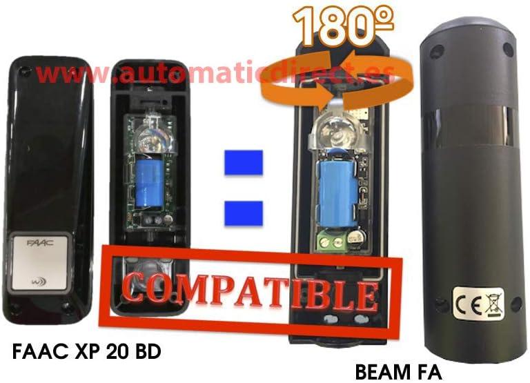 Sistema Blue Bus compatible con Liftmaster y Marantec sin tornillos Fotoc/élula orientable 180/º BEAM CH F/ácil ajuste del /ángulo