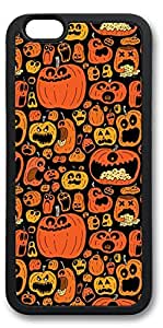 iPhone 6 Cases, Personalized Custom Soft Black Edge Case Cover for New iPhone 6 4.7 inch Halloween Pumpkins