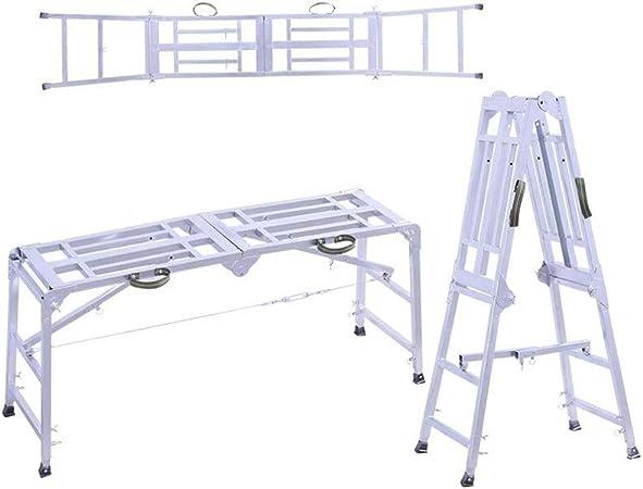D Escaleras Extensibles Taburete Plegable para Caballos Andamio De Elevación Portátil Escalera Móvil Escalera Recta (Tamaño : B): Amazon.es: Hogar