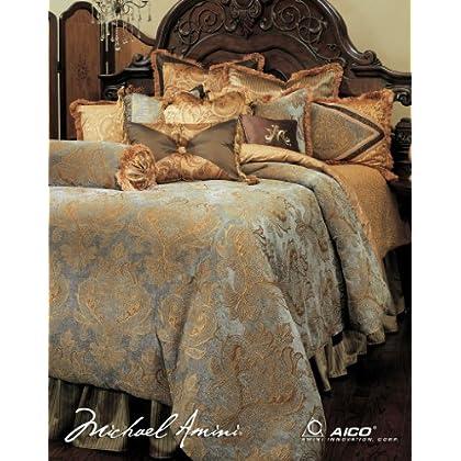 Image of Home and Kitchen Aico Elizabeth King 13-Piece Bedding Set As Shown (BCS-KS13-ELZBTH-AQA)
