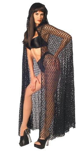 Rubie's Costume Fantasy Net Cape, Black, One Size -
