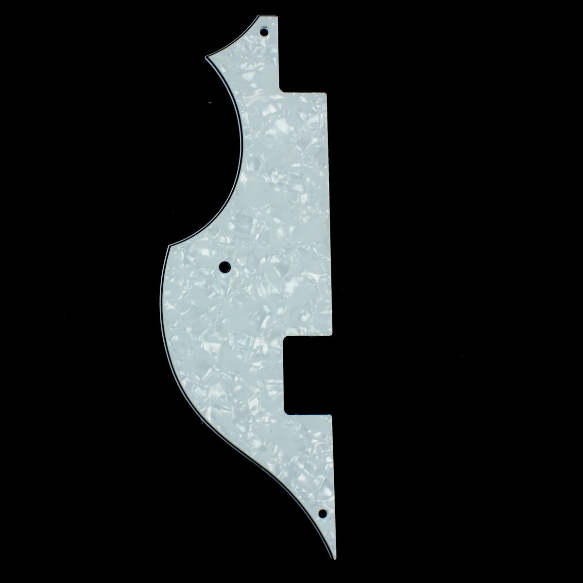 (F48) HOFNER Bass Guitar pickguard ,Right handed ,4ply white pearl