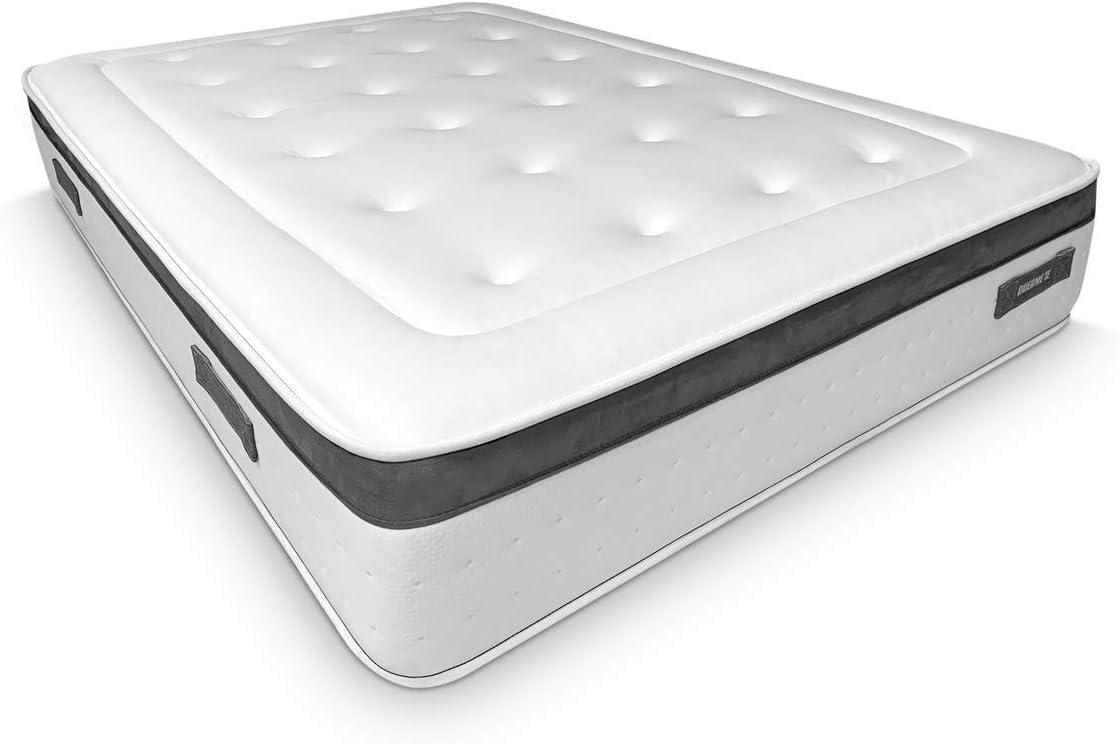 Duérmete Online - Colchón Viscoelástico Nature Biogel | Altura 29cm | Confort Máximo | Tejido Termorregulador, 150x190