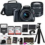 Canon EOS Rebel SL2 Digital Camera: 24 Megapixel 1080p HD Video DSLR Bundle With 64GB (2x 32GB SD Cards) Mini Tripod Filter Kit Flash Bag & Charger - Professional Vlogging Sports & Action Cameras