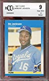 #10: 1987 fleer #369 BO JACKSON kansas city royals rookie card BGS BCCG 9 Graded Card