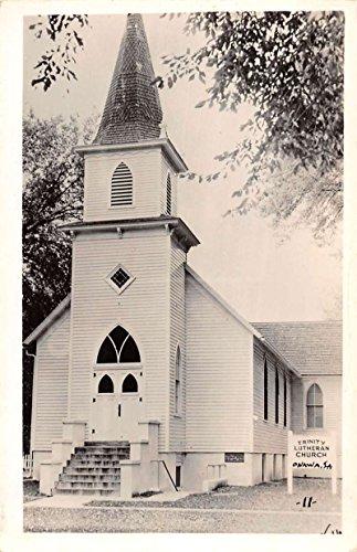Onawa Iowa Trinity Lutheran Church Real Photo Vintage Postcard (Vintage Real Photo Postcard)