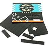 100-Piece Flexible Magnetic Squares for Light Everyday Use; Strong Adhesive - Just Peel & Stick
