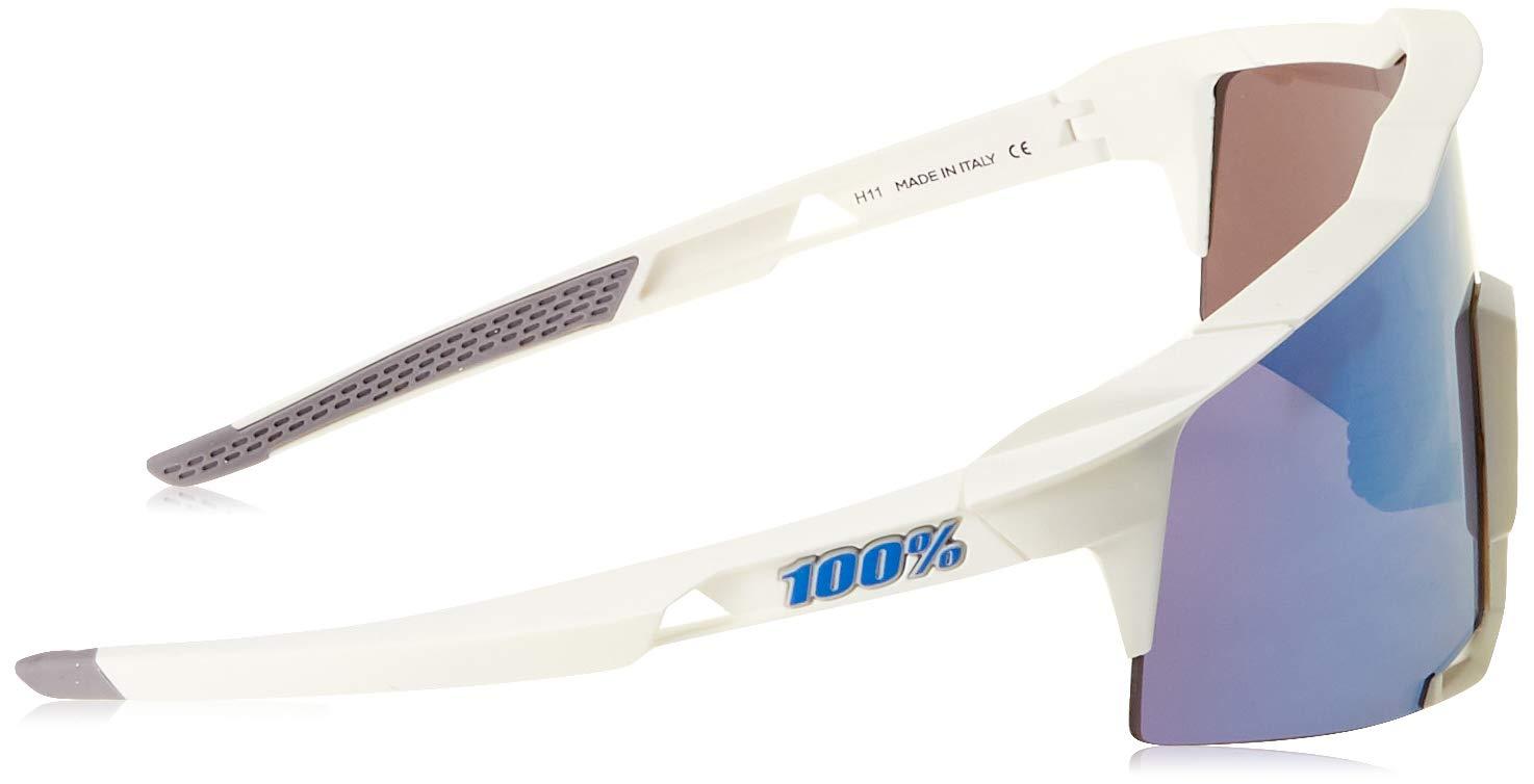 100% Unisex-Adult Speedlab (61001-000-75) Speedcraft-Matte White-HiPER Blue Multilayer Mirror Lens, Free Size) by 100% (Image #3)