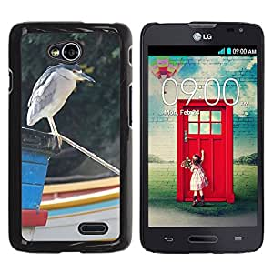 Hot Style Cell Phone PC Hard Case Cover // M00131139 Heron Bird Night Heron Black-Crowned // LG Optimus L70 MS323