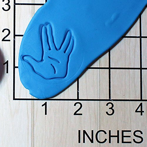 Spock Live Long and Prosper Hand Shape Cupcake Size Fondant Decorating Stamp and Handle #1510]()