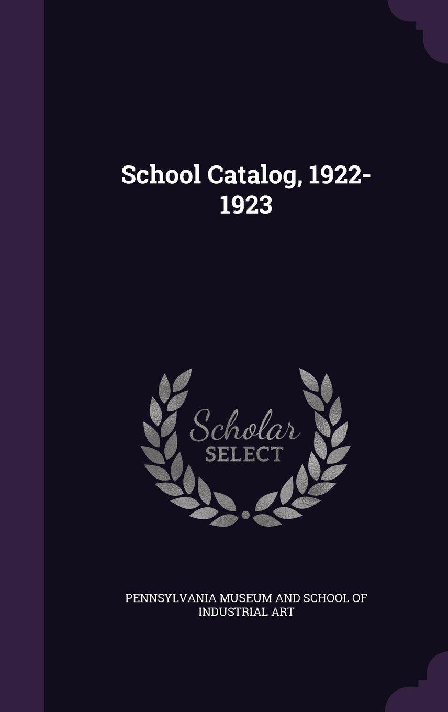 School Catalog, 1922-1923 pdf epub