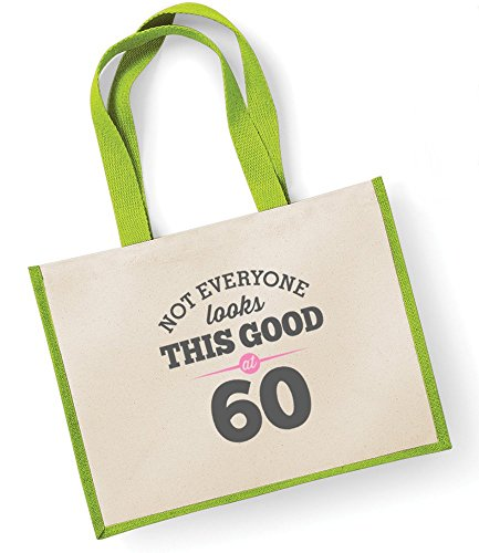 Ladies Good Gift Bag Gift Gift Tote Gifts Shopping Female Women Birthday Ladies Fuchsia Gifts For Looking Novelty Keepsake Present Gift Funny 60th Green Bag Gift Birthday Idea qnAZAz