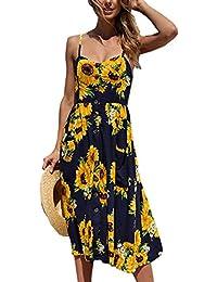 Women's Dresses-Summer Floral Bohemian Spaghetti Strap...
