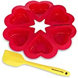 Silicone Pressure Cooker And Oven Heart Bite,Cupcake,Muffin,Pancake Molds,Fits 8 Qt. Pressure Cooker