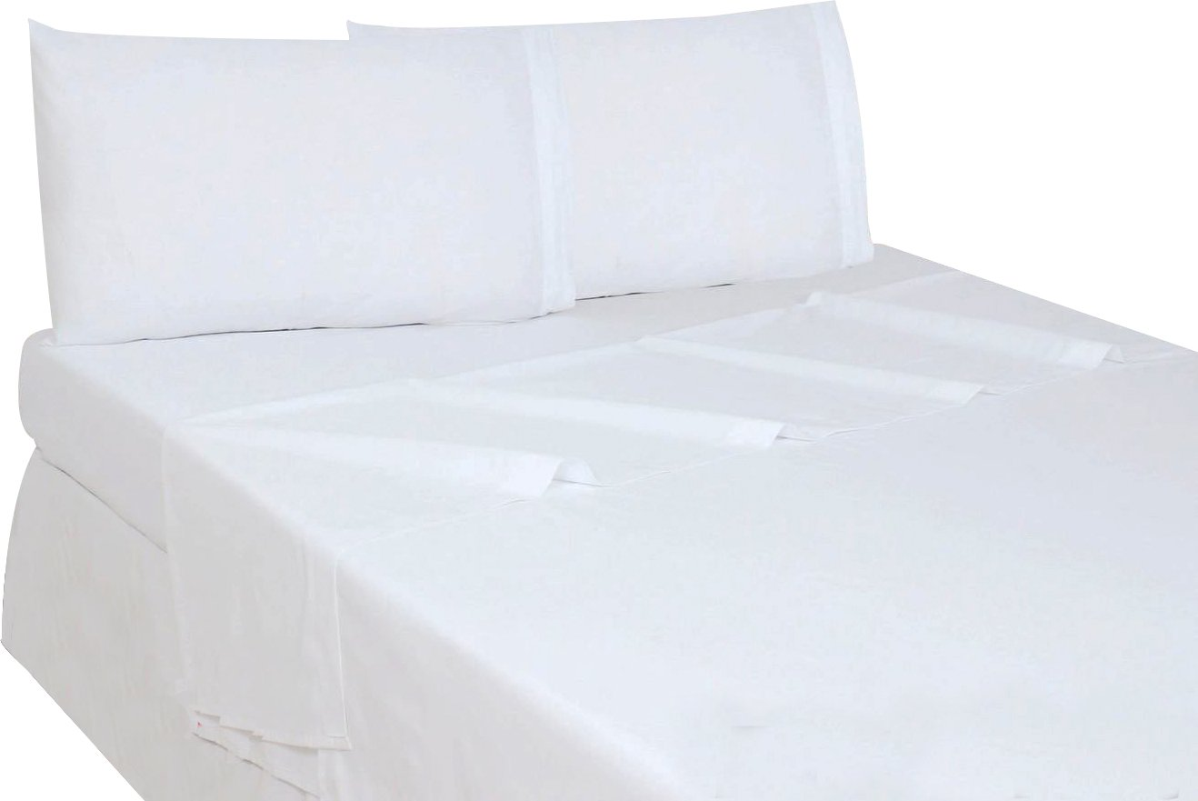 Utopia Bedding Flat Sheet (Queen, White) Brushed Microfiber, Breathable, Extra Soft and Comfortable - Wrinkle, Fade, Stain and Abrasion Resistant - Hotel Quality - Extremely Durable