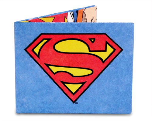 Mighty Wallet DC Comics Men's Ultra Thin Strong Tyvek Wallet by Dynomighty - Superman
