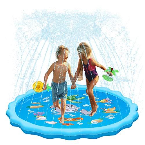 QPAU Sprinkler for Kids, Sprinkle and Splash Play Mat 68