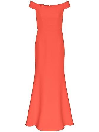 Abendkleid orange rot