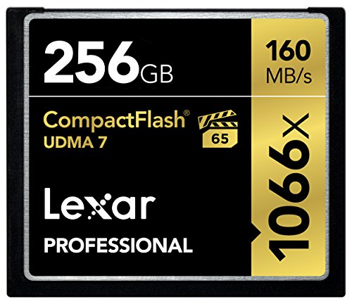 Lexar Professional 1066x 256GB VPG-65 CompactFlash card (Up to 160MB/s Read) w/Free Image Rescue 5 Software LCF256CRBNA1066