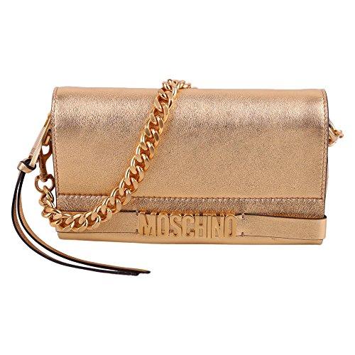 Moschino Mujer A75038011606 Oro Cuero Clutch