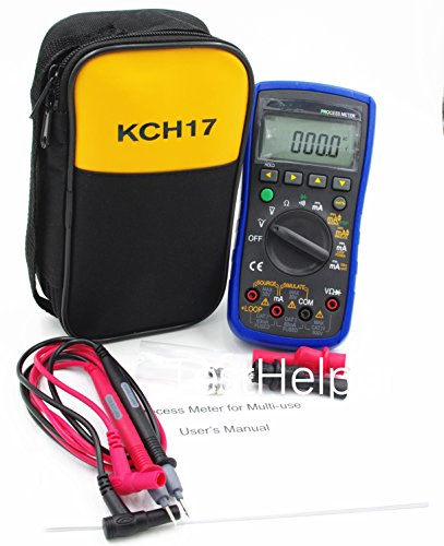 TestHelper TH77 Process Multimeter Calibrator Meter Multifunctional DMM,250Ω HART Loop Resistance,24V Loop Power Supply and Measuring the Current