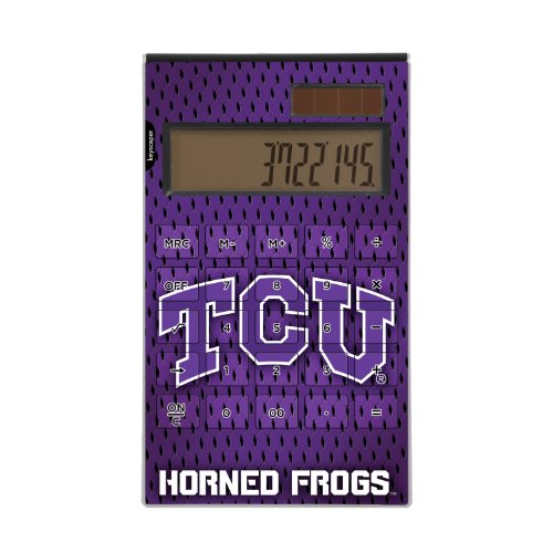 Texas Christian Horned Frogs Desktop Calculator officially licensed by Texas Christian University Full Size Large Button Solar by keyscaper®