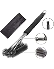 "Grill Brush,18"" Stainless Steel BBQ Grill Brush,Grill Cleaning Brush with 3-in-1 Wire Bristles Brush and Soft Comfortable Handle,Perfect BBQ Brush for All Grill Grates"